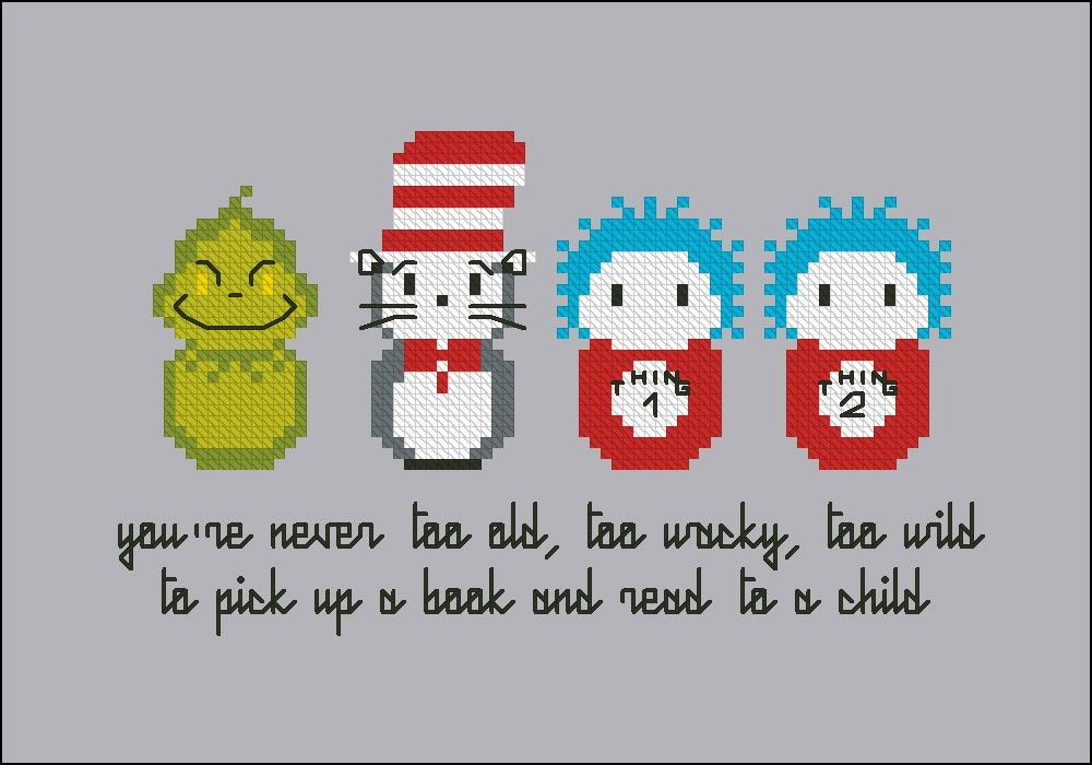 Dr. Seuss - Cross Stitch Patterns - Products | Perler Beadzz, Yo ...