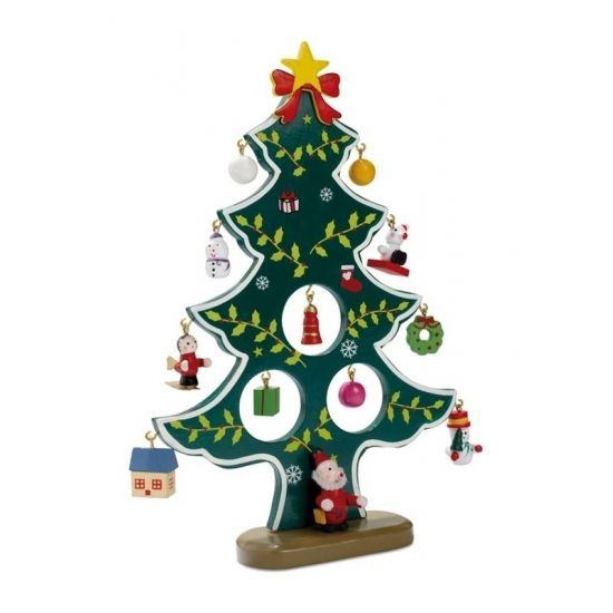 Houten Kerstboom Inclusief Hangers. Decoratieve Houten