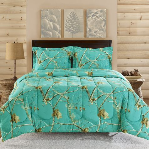 Realtree Teal Blue Camo Comforter Set Shopko Camo Comforter