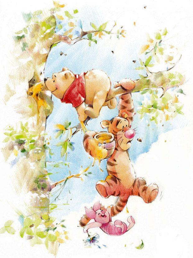 ♥ Winnie Pooh & Friends ♥ … | くまのプーさん, イラスト ...