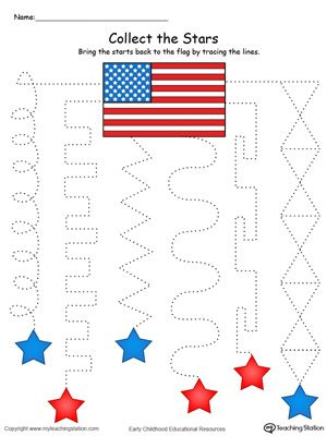 Trace the Pattern to Collect the Stars in Color | Printable ...