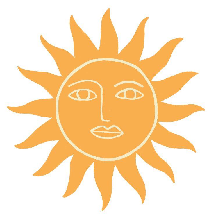 Retro sun sticker
