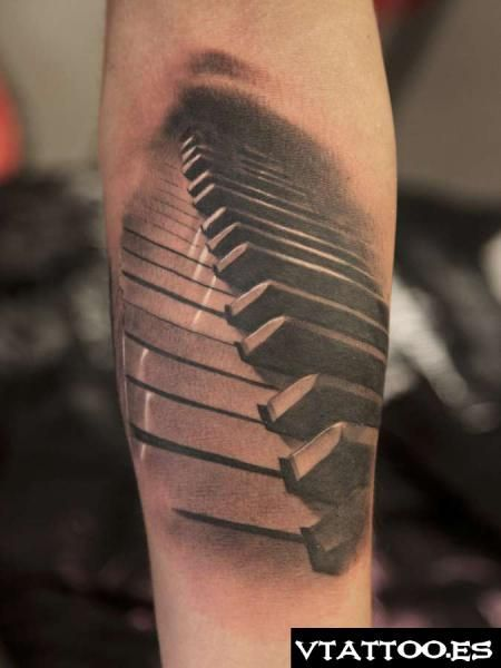 To Go With The Rose Made Out Of Piano Sheet Music Piano Tattoo