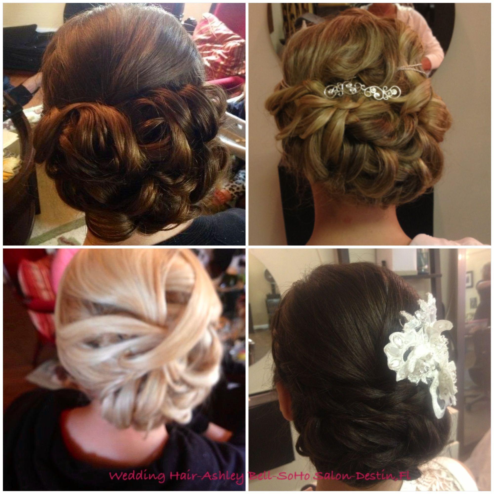 wedding hair by ashley bell, soho salon, destin, fl | hair and make
