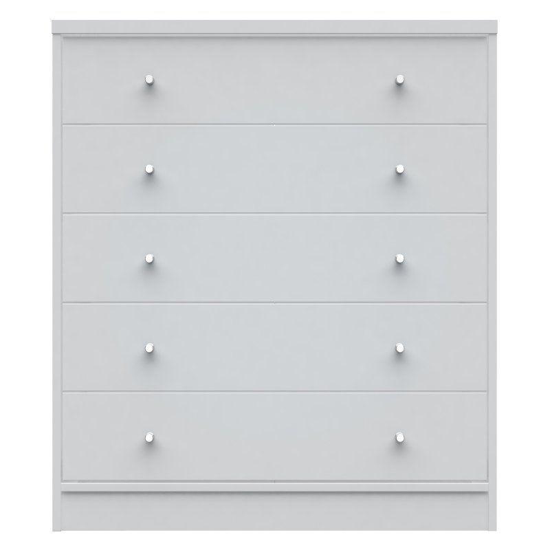Manhattan Comfort Astor 2.0 5 Drawer Dresser White - 60852