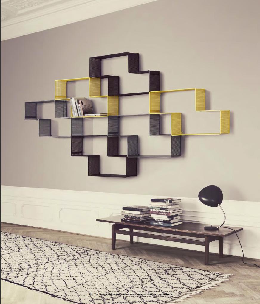 Gubi Creative Abstract Wall Bookcase Book Shelves