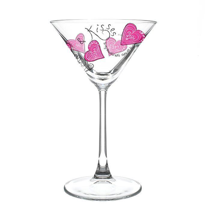 Love U0026 Kisses Personalised Cocktail Glass