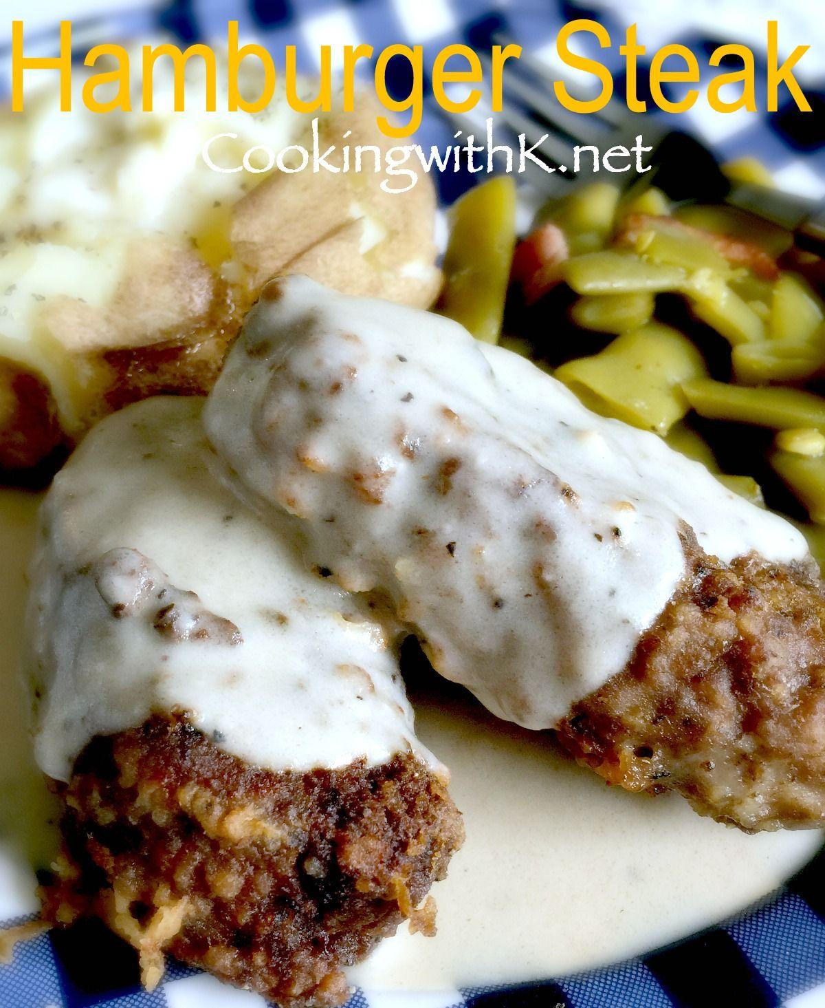 Chicken Fried Hamburger With White Gravy: Hamburger Steak With Creamy Gravy {Grandmother's Recipe