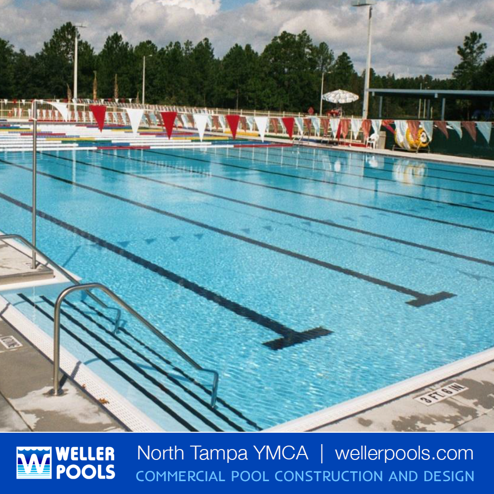 We Proudly Built The 25 Yard Pool For Lap Swimming Water Fitness At The Bob Sierra North Tampa Family Ymca Vis Resort Pool Design Pool Construction Pool