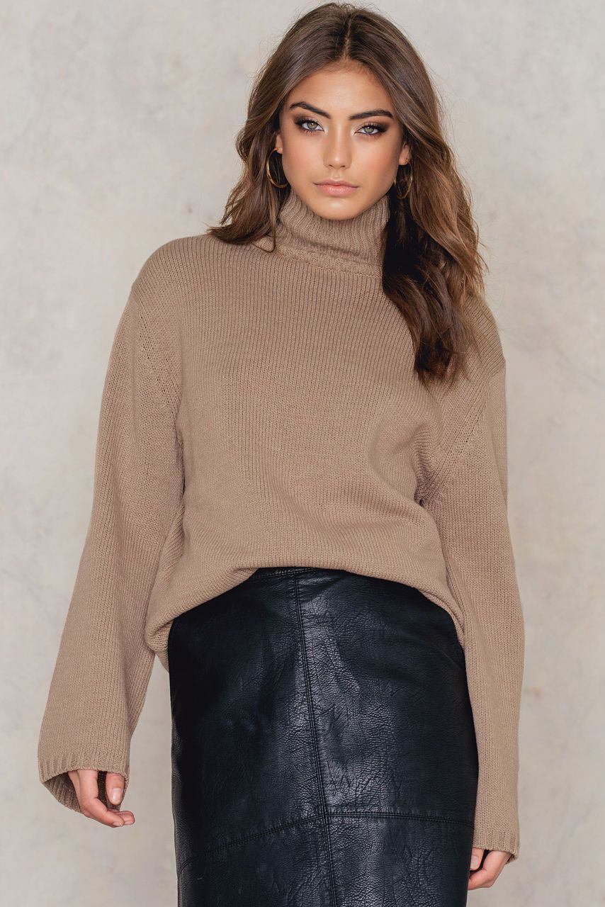 Wide Sleeve High Neck Sweater | Turtlenecks (my other favs ...