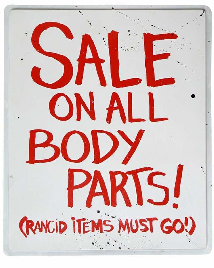 sale body parts road sign zombie halloween decoration prop new