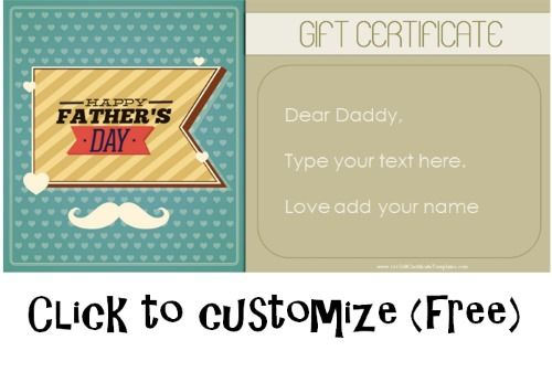 Father S Day Gift Certificate Templates 101 Gift Certificate Templates Gift Certificate Template Printable Gift Certificate Free Printable Gift Certificates