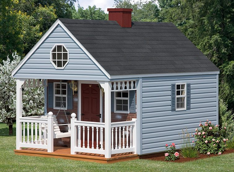Playhouses backyard cabin backyard cabinbr 10x10 to for 10x10 house design