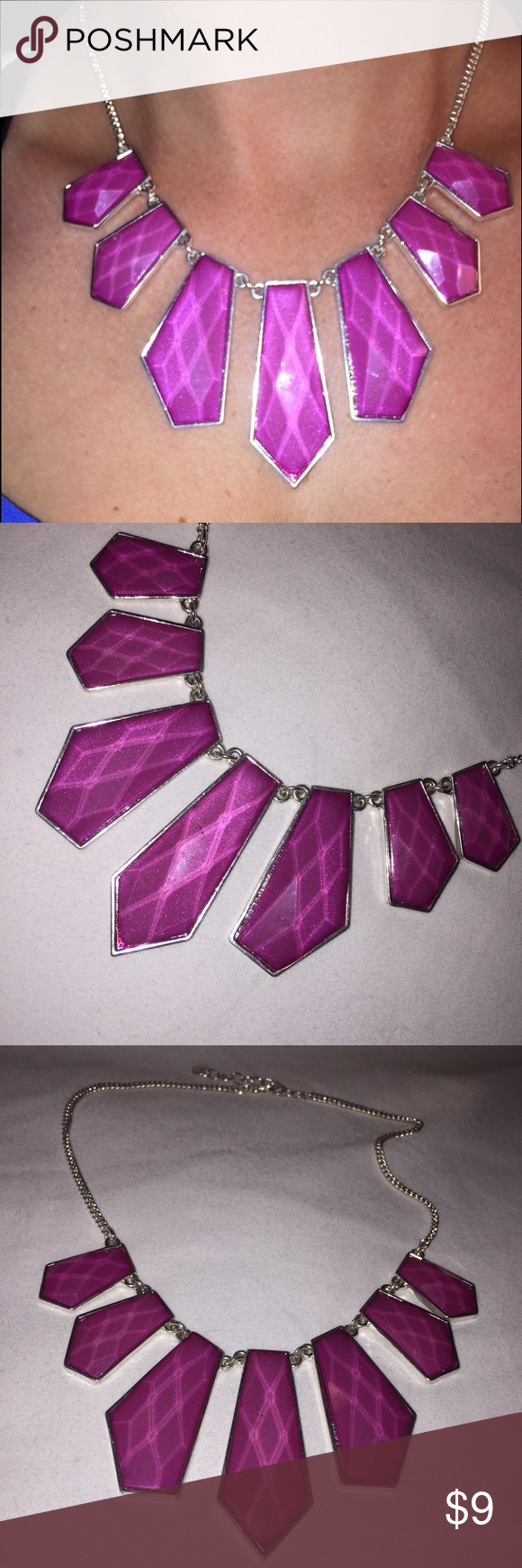 Necklace Shimmery pink and silver statement necklace 15 inches 💥host pick💥 Jewelry Necklaces