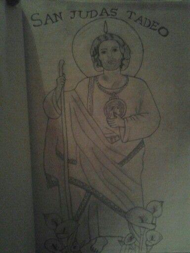 San Judas Tadeodibujo De Analbotello Dibujos Y