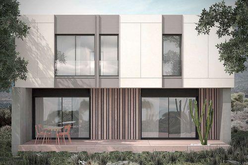 maison pr fabriqu e modulaire passive contemporaine. Black Bedroom Furniture Sets. Home Design Ideas