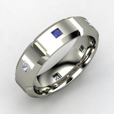 Unique Menu0027s Tungsten Wedding Bands | Back To Post : Sapphire U0026 Diamond  Menu0027s Platinum Ring