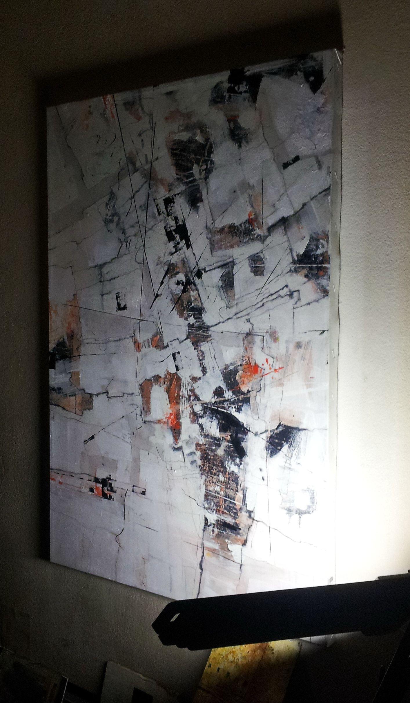 Pencil, Acrylic, Oil On Canvas, 70X50Cm By Marko Davidovic, 2017