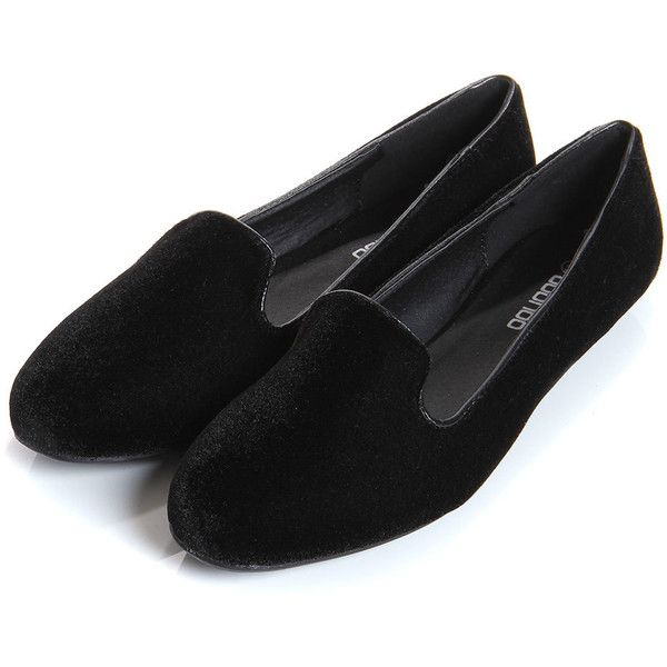 Jamilla Black Velvet Tab Top Slipper Shoe ($36) ❤ liked on Polyvore featuring shoes, loafers, flats, sapatos, chaussures, loafer flats, flat loafer shoes, flat slipper shoes, flat pumps and slippers shoes