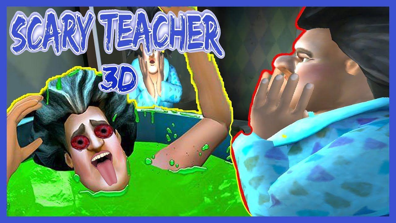 Deli Cirkin Ogretmene Banyo Sakasi Yaptik Scary Teacher 3d Part 4 Sakalar Banyo Lucca