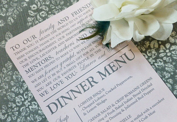 Check out this item in my Etsy shop https://www.etsy.com/listing/213697983/printed-wedding-menu-and-thank-you-style