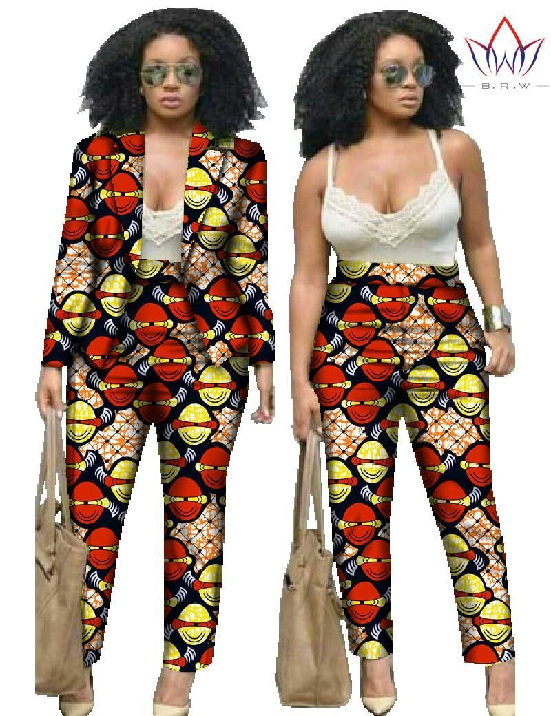 1000 Images About African Print 2 Piece Outfit On: 2 Piece Set Pants And Crop Top Plus Size Women African