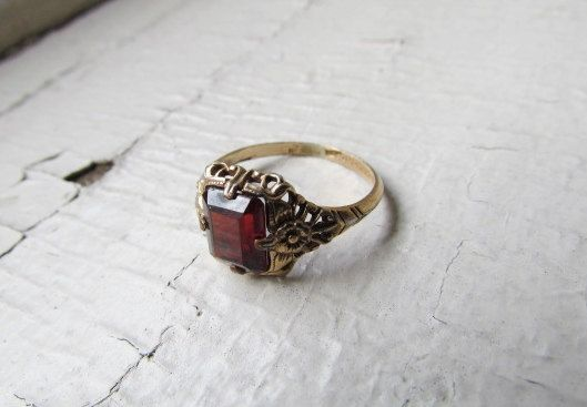 Antique Ring / Victorian Gold Filled Ring With by LUXXORVintage, $135.00