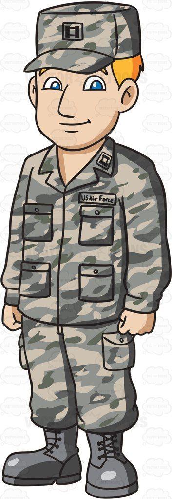 a man dressed in us air force airman battle uniform air force