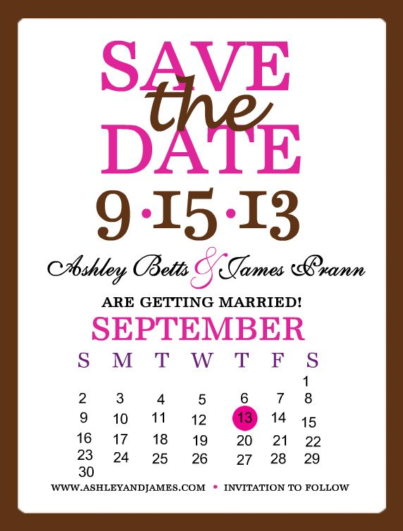 Set your date on everyone\u0027s calendars Make your very own save the