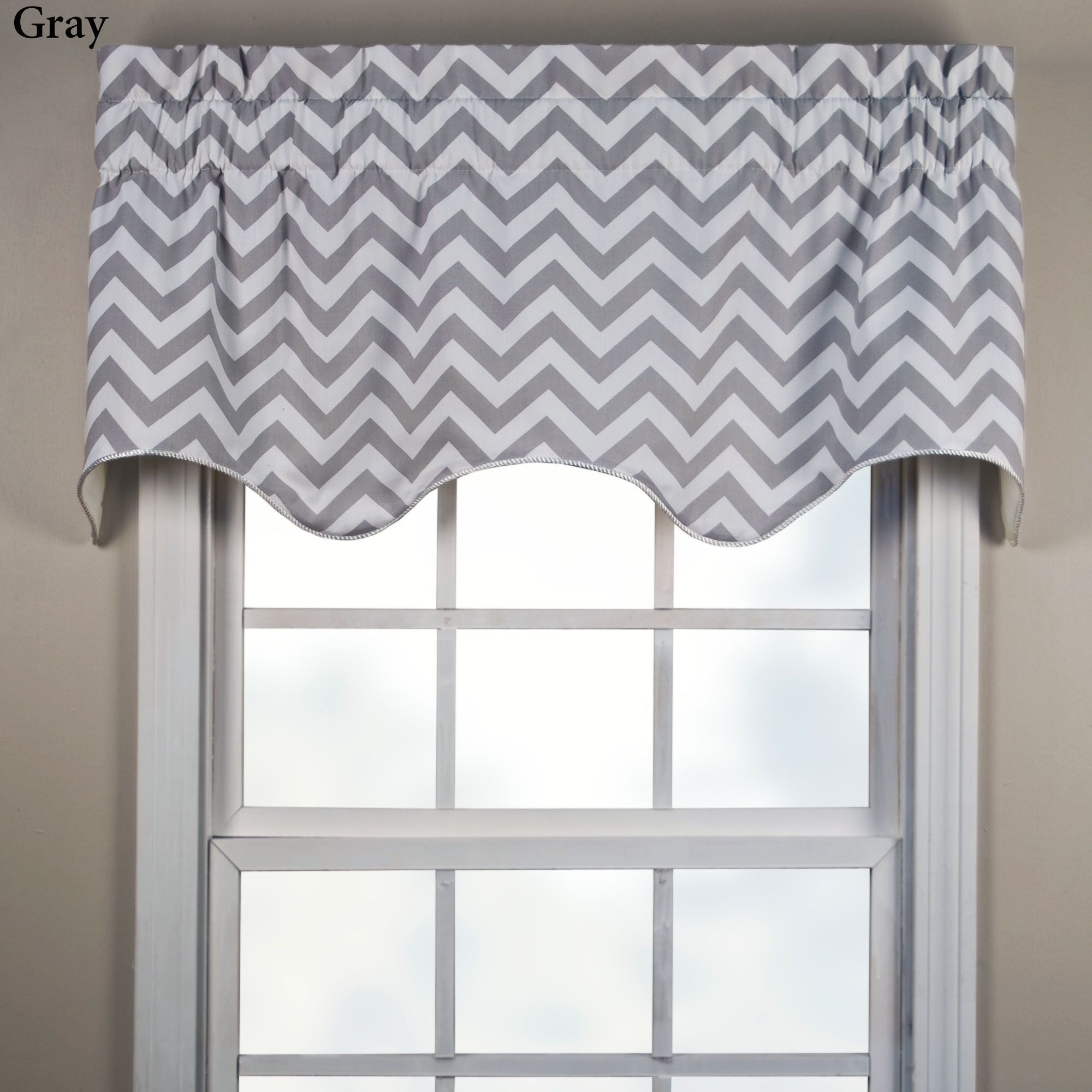 Reston chevron scalloped window valance valance window and room