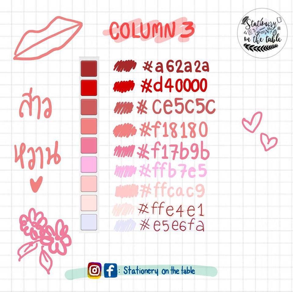 มาแชร์ Pen Color Palette on Goodnotes App | Goodnote ในปี