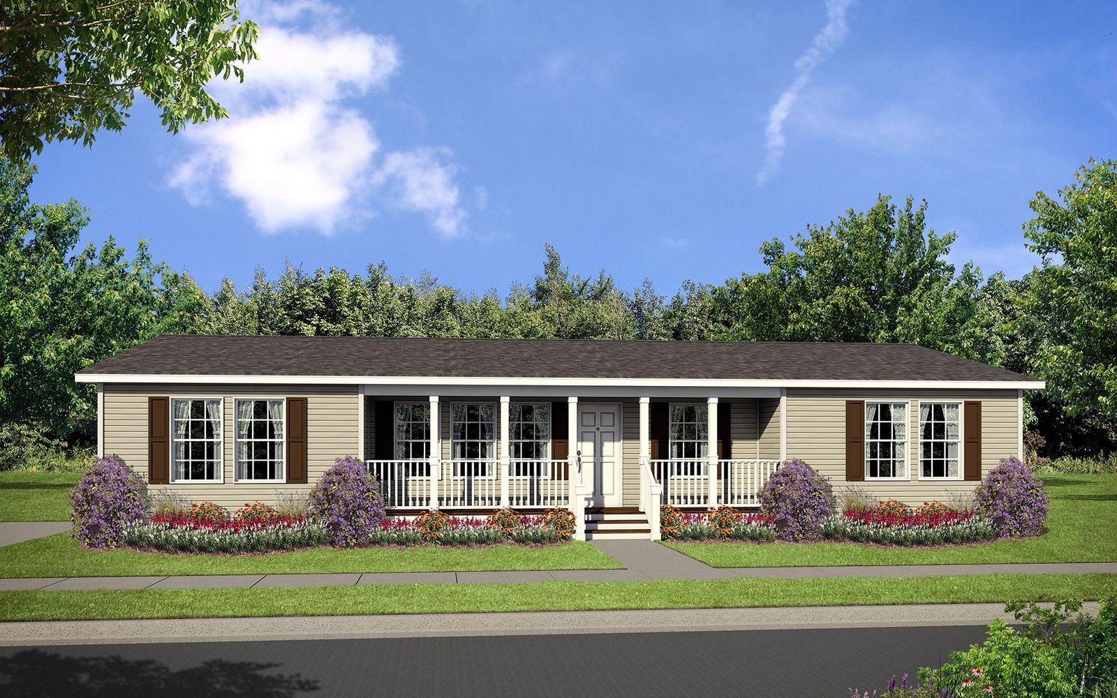 exquisite modular home definition. House Dutch 3256 Elevation with Recessed Front Porch  Modular homes