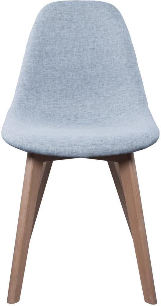 chaise scandinave en tissu gris et pieds en bois 2 - Pied De Chaise Scandinave
