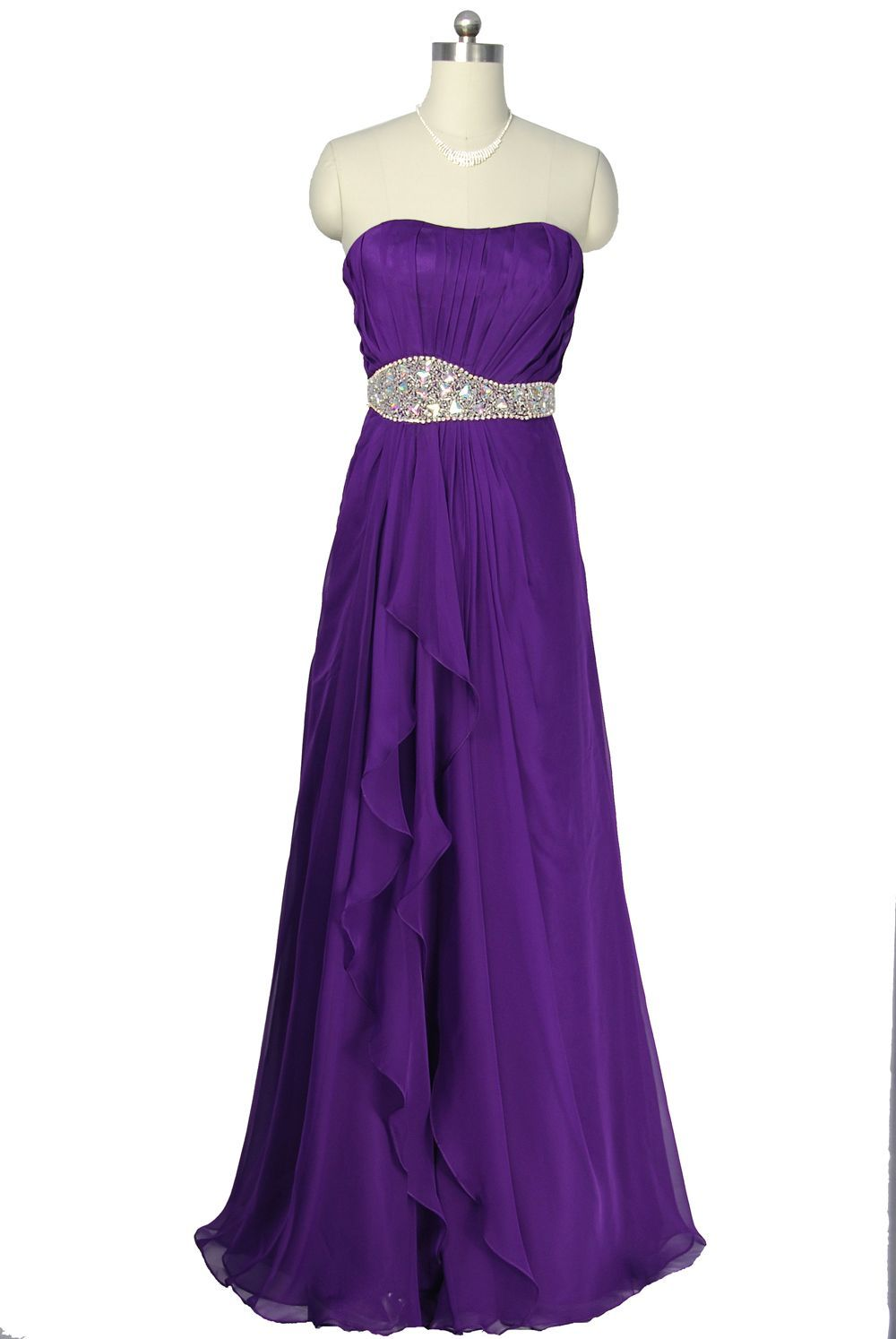 purple evening dresses | ... Purple Luxury Design Chiffon Evening ...