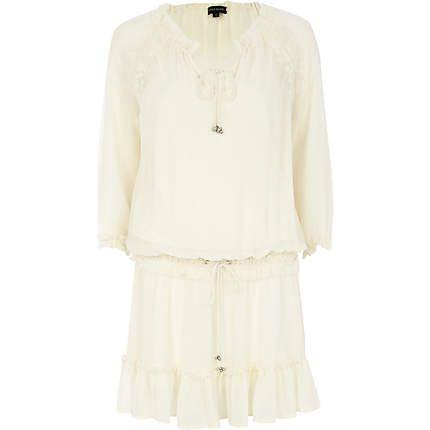 Beige boho smock dress £40.00