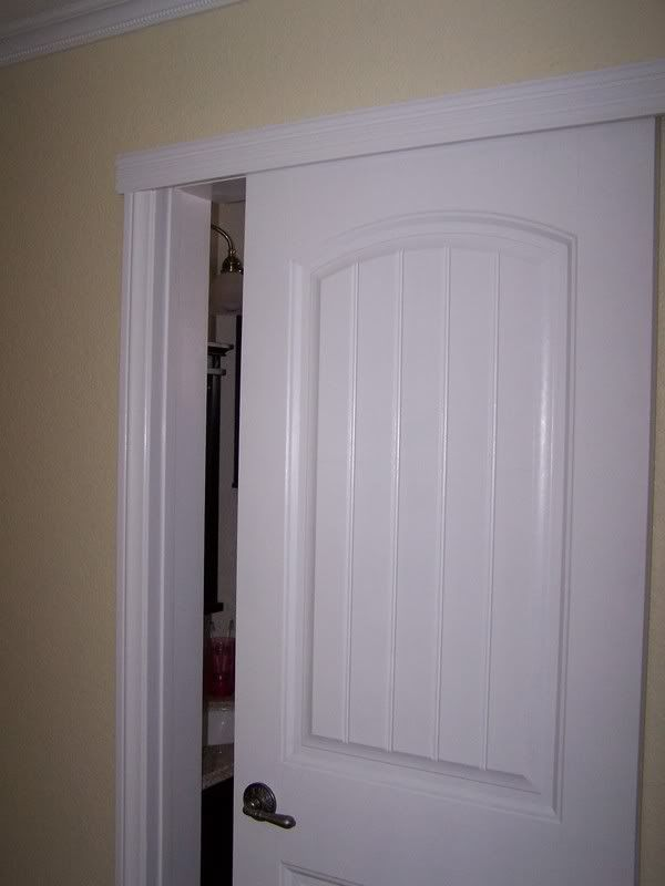 Wall Mount Sliding Door To Create More Space In Bathroom Or Small