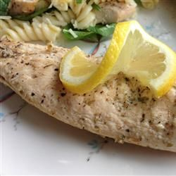 This marinade for Lemon Chicken Oregano http://allrecipes.com/Recipe/Lemon-Chicken-Oregano/Detail.aspx  is full of flavour and is a perfect to the lemon basil pasta salad also found on Allrecipes.com
