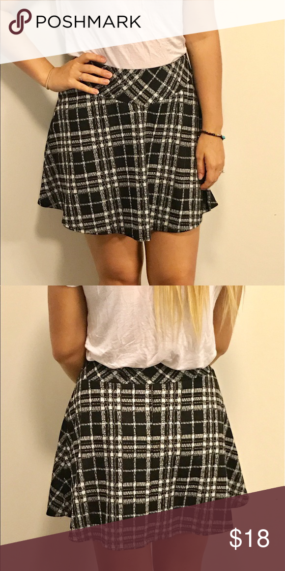 442e555621 Checkered Skater Skirt This adorable black and white skirt is in almost  perfect condition! It's barely been worn and looks super cute dressed up or  down!