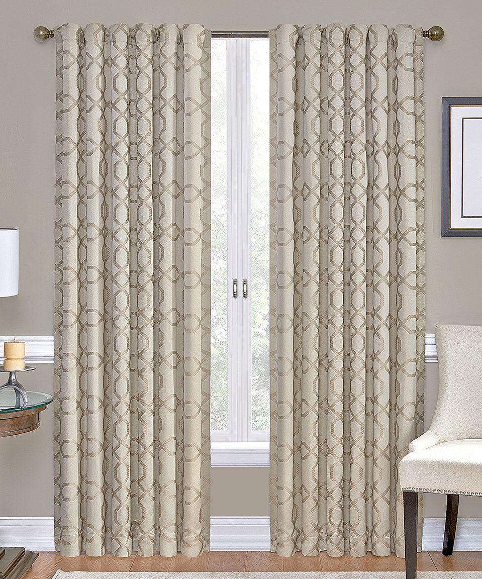 Bed bath and beyond window shades  look at this zulilyfind ivory premier roomdarkening curtain panel