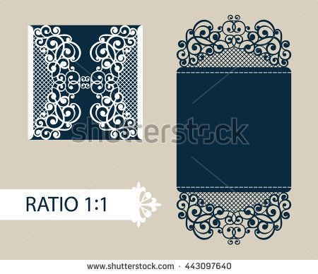 The layout of the cards in three additions. The template is suitable for greeting cards, invitations, menus, etc. the picture suitable for laser cutting or printing. Vector
