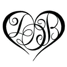 Another heart tattoos pinterest tattoo tatoo and piercings another heart monogram tattootattoo initialsletter b thecheapjerseys Images