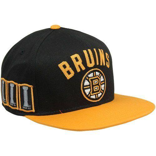 c2b9a3983dc NHL CCM Boston Bruins Trophy Snapback Adjustable Hat - Black Gold by Reebok.   27.94