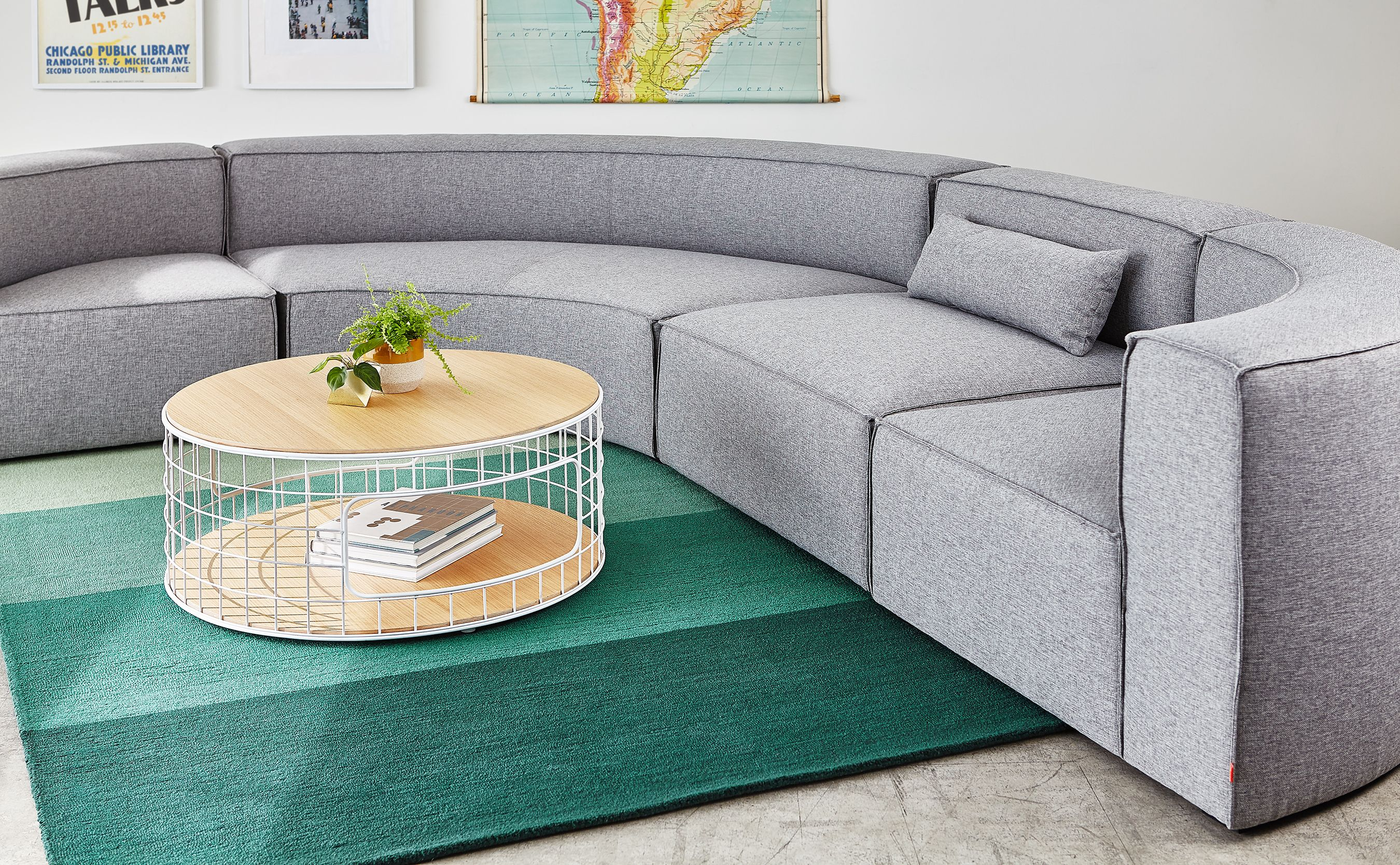 Unglaublich Boreal Haus Beste Wahl Mix Modular Sectional, Wireframe Coffee Table &