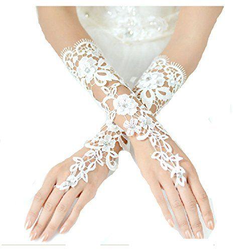 L8 Fingerless Bridal Lace Length Wedding Flower Style Gloves with Diamond and Flower LondonProm, http://www.amazon.co.uk/dp/B00KWAON2O/ref=cm_sw_r_pi_dp_5x5Ltb10GZEBA