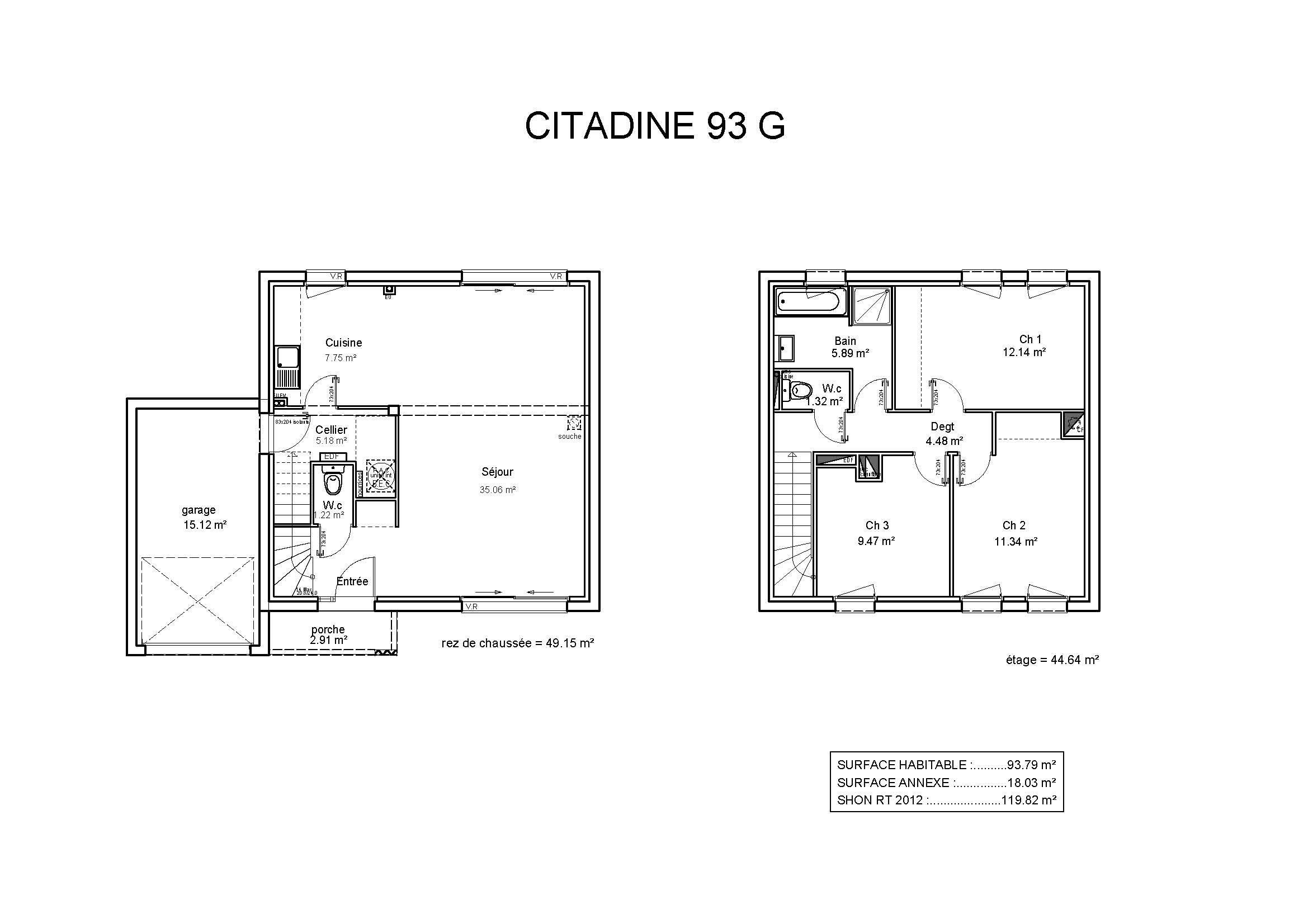 Modèles et plans de maisons modèle à étage ligne citadine constructions demeures côte argent