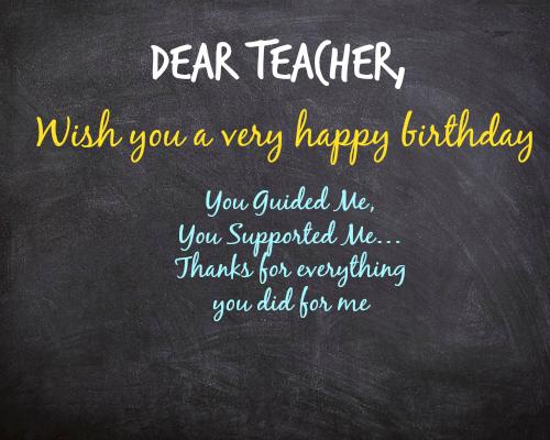 Quotation On Teachers Birthday