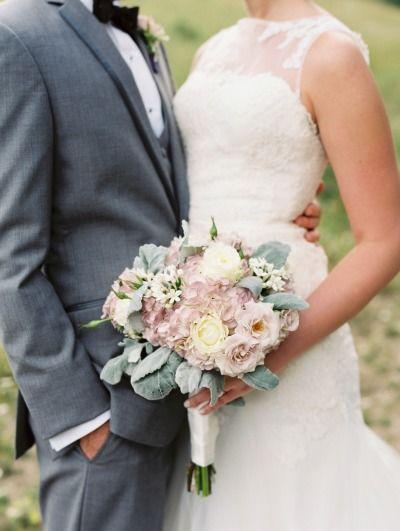Vintage inspired bouquet: http://www.stylemepretty.com/little-black-book-blog/2014/12/15/rustic-lavender-blush-colorado-wedding/ | Photography: JoPhoto - http://www.jophotoonline.com/