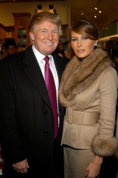 Donald Trump and Melania Trump attend The Society of Memorial SloanKettering Cancer Center's 16th Annual Bunny Hop at FAO Schwarz on March 13 2007 in...