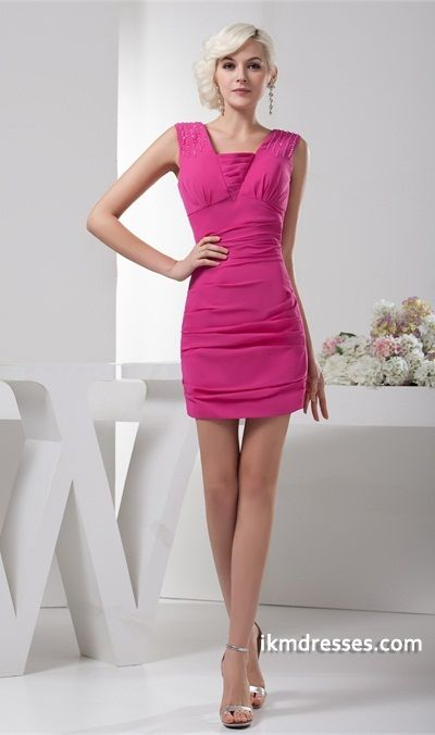 http://www.ikmdresses.com/Short-Mini-Sheath-Column-Pleats-Chiffon-Silk-like-Satin-Homecoming-Dress-p22000