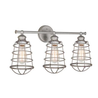 Design House, Ajax Collection Galvanized Indoor Vanity Light, 519728 At The Home  Depot   Mobile